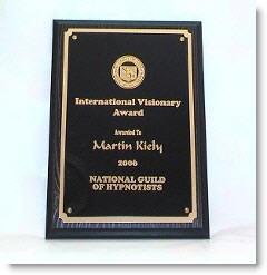 Martin Kiely Consulting Hypnotist International Visionary Award
